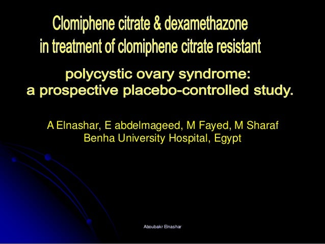 Clomiphene citrate & dexamethazone  in treatment of clomiphene citrate resistant PCOS