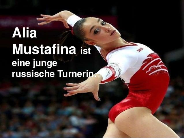 Alia Mustafina ist eine junge russische Turnerin.