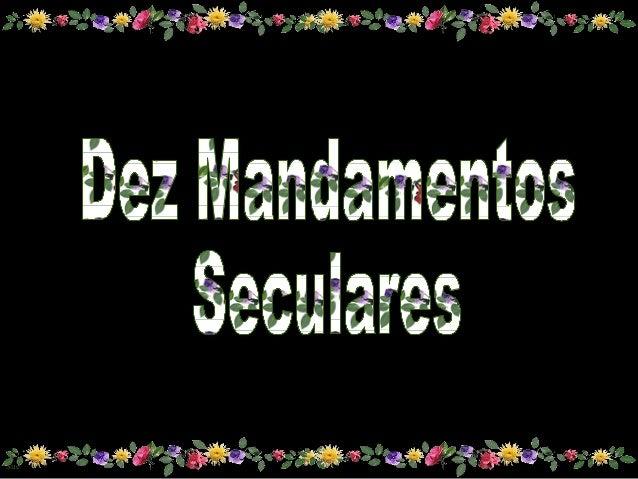 Dez mandamentos modernos