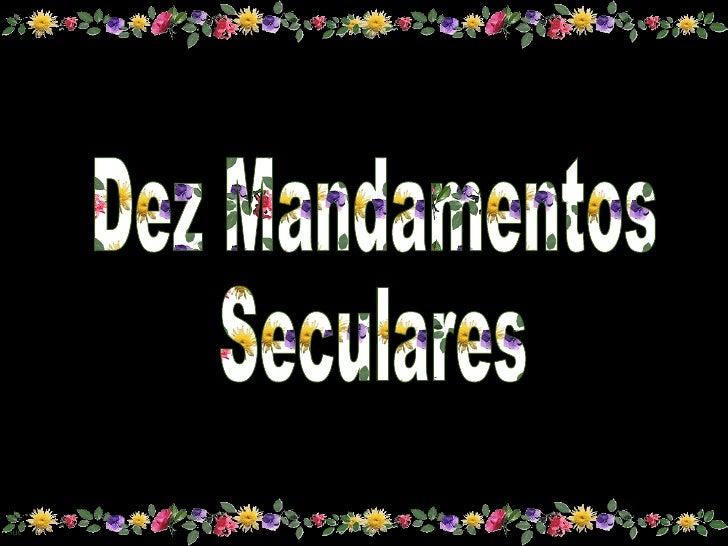 Dez mandamentos. belissimo