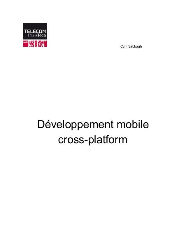 CyrilSabbagh                Développementmobile crossplatform