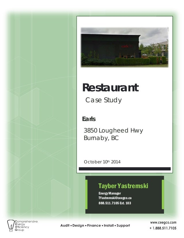 Ceeg case study restaurant earls bc