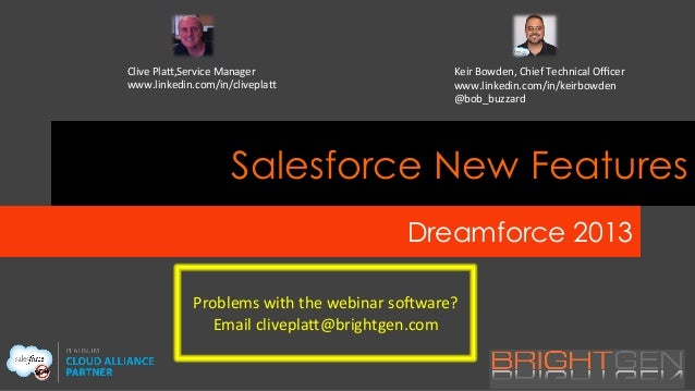 BrightGen's Dreamforce 13 New Features Webinar