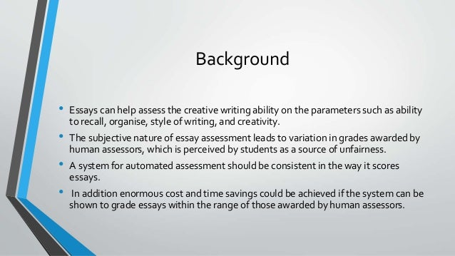 Automated essay grading software