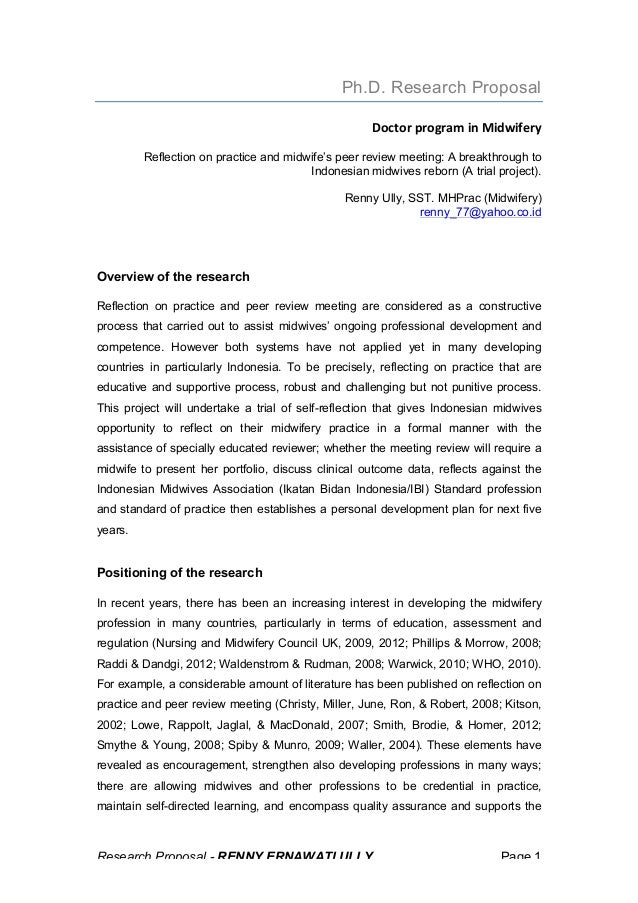 What is research proposal for phd