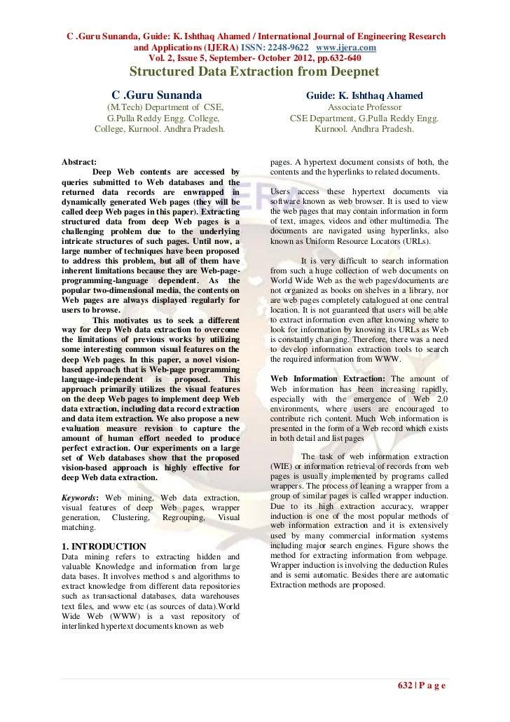 C .Guru Sunanda, Guide: K. Ishthaq Ahamed / International Journal of Engineering Research               and Applications (...