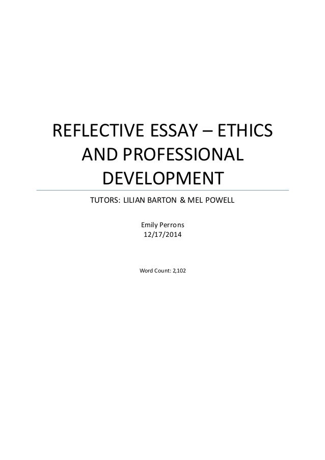reflective essay on human development This essay is going to give a critical reflection of human development theories it will compare and contrast human development theories, linking the theories.