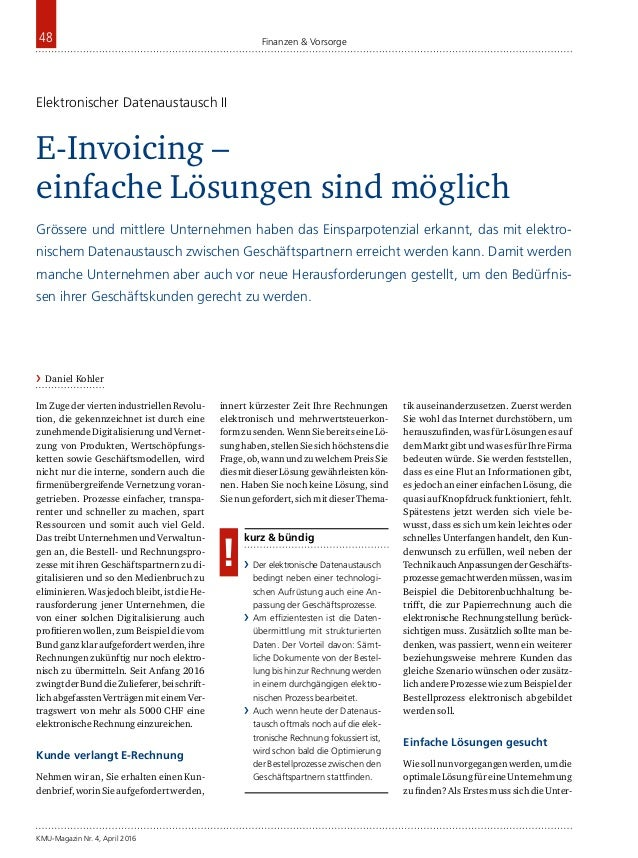 Finanzen & Vorsorge KMU-Magazin Nr. 4, April 2016 48 ImZugederviertenindustriellenRevolu- tion, die gekennzeichnet ist dur...