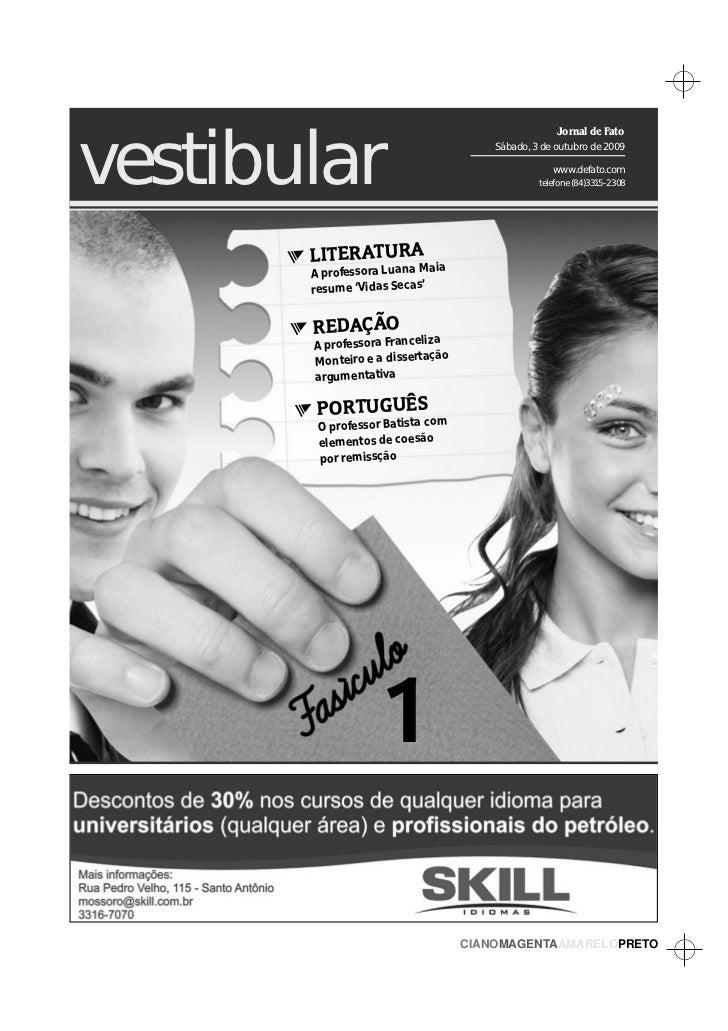 vestibular                                                   Jornal de Fato                                      Sábado, 3...