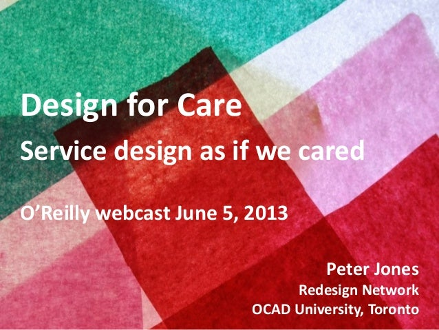Design for Care O'Reilly webcast