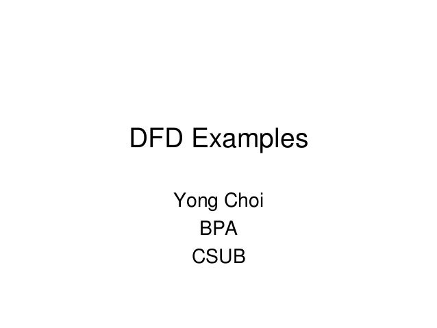 Dfd examples