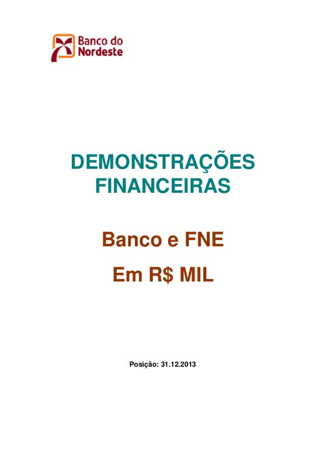 Demonstração financeiras 2013 - BNB