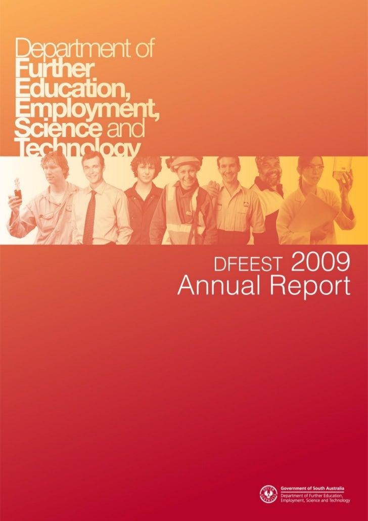 DFEEST Annual Report 2009