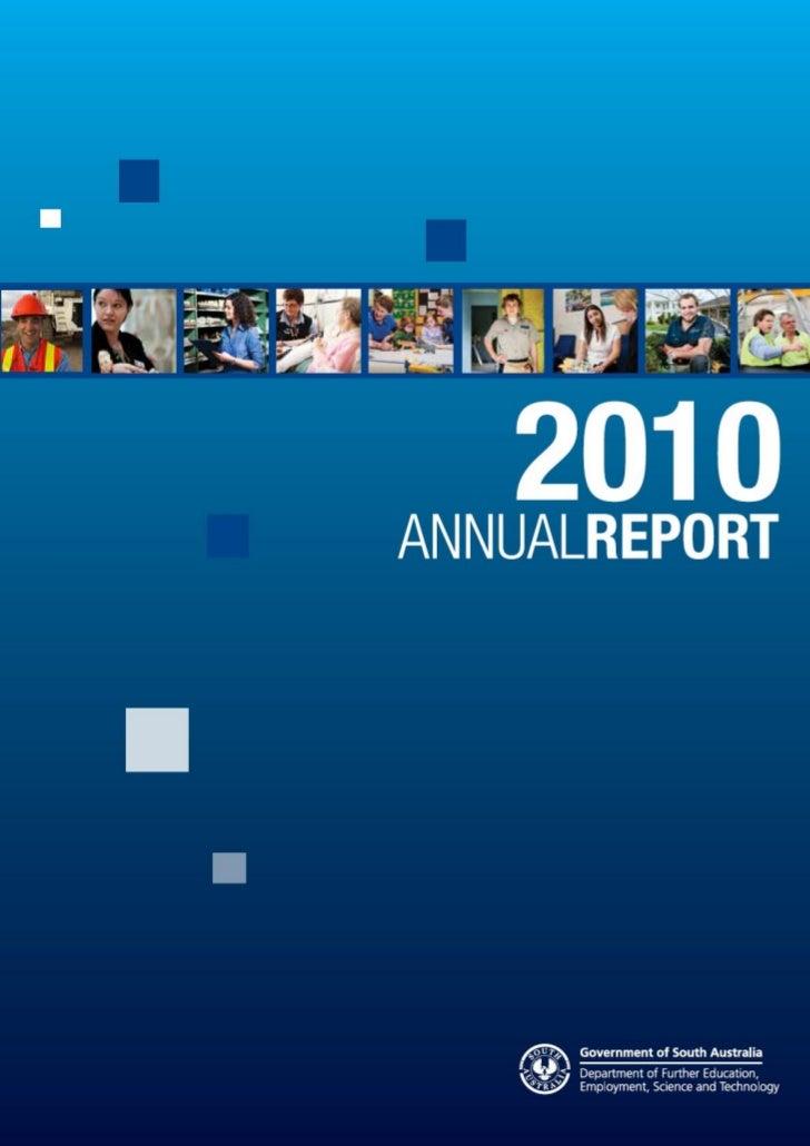 DFEEST Annual Report 2010