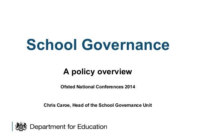 Dfe governance policy