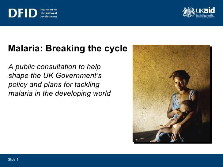 Malaria: breaking the cycle   Have your say on our new strategy