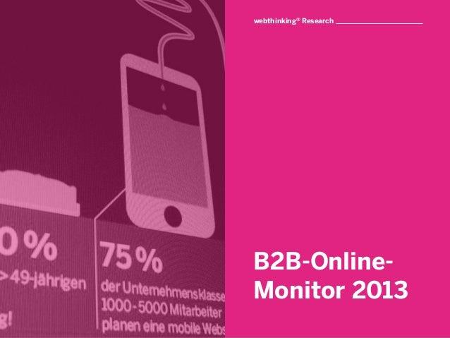 B2B Online-Monitor 2013 - Die wichtigsten Ergebnisse!