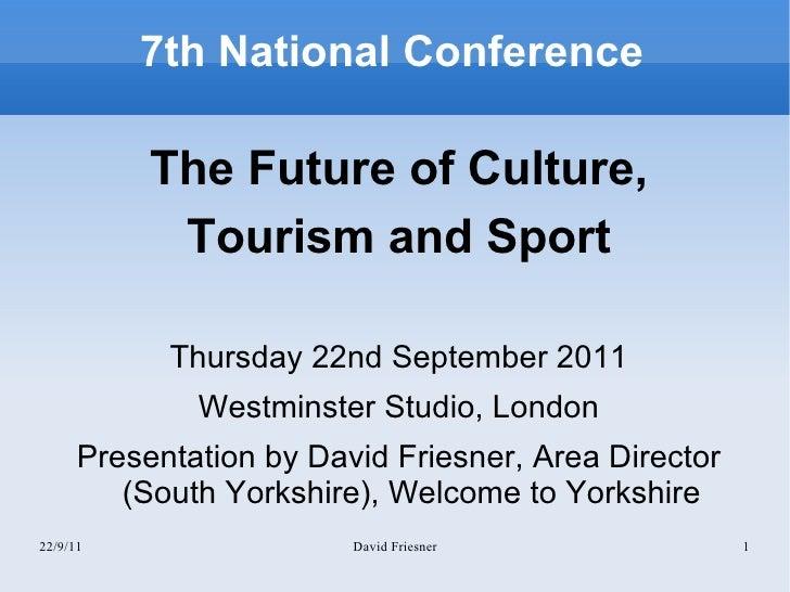 DF LEPs and Tourism Sept 2011 London