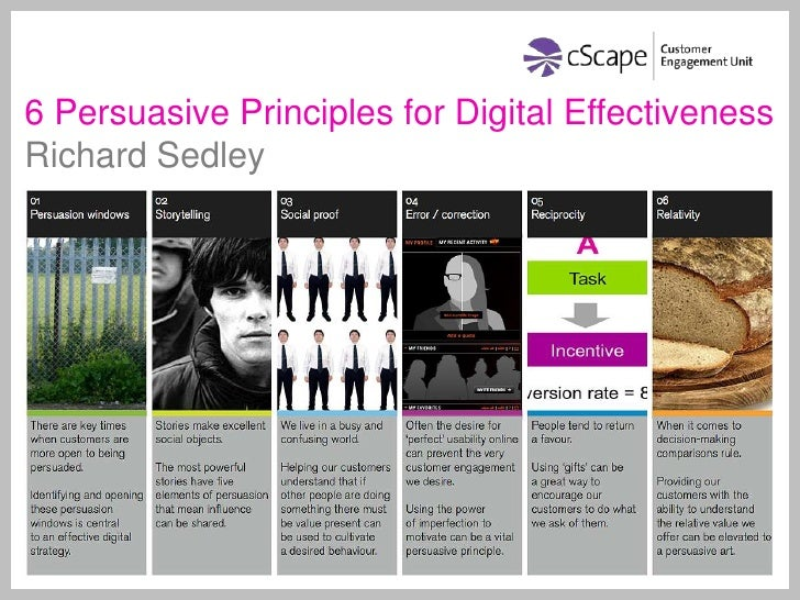 6 Persuasive Principles for Digital Effectiveness<br />Richard Sedley<br />