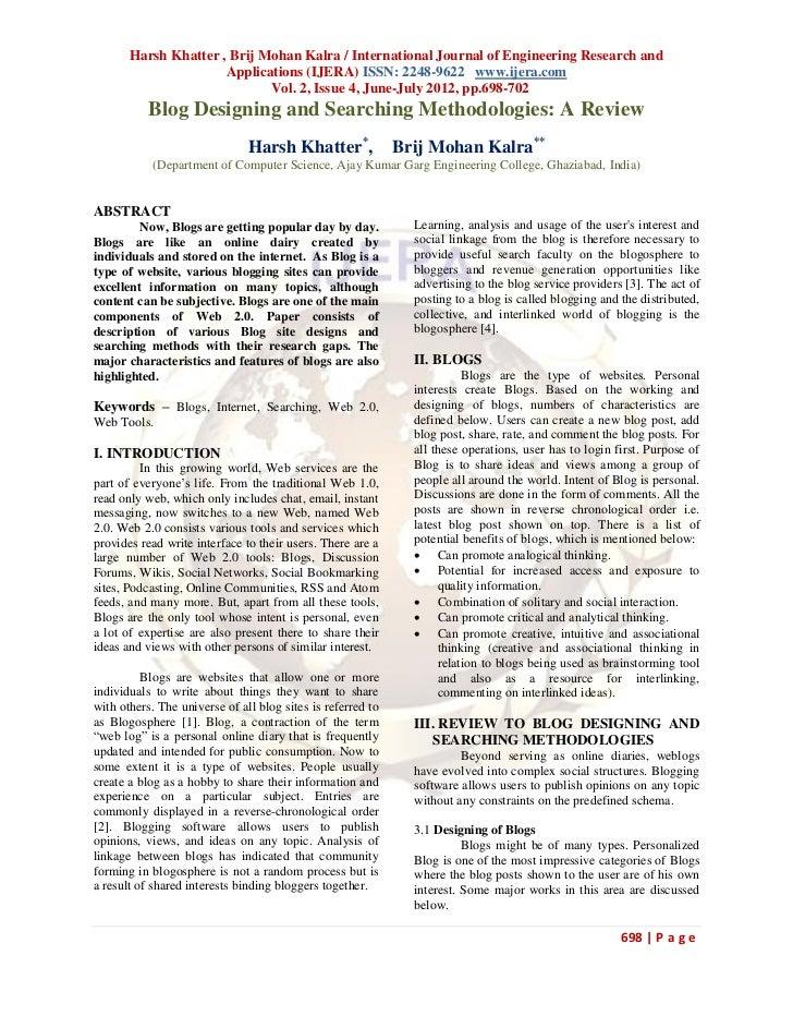 Harsh Khatter , Brij Mohan Kalra / International Journal of Engineering Research and                      Applications (IJ...