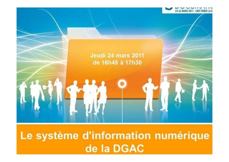 DGAC -  Le système d'information numérique de la DGAC