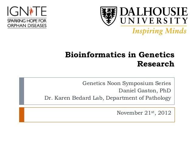 Bioinformatics in Gene Research