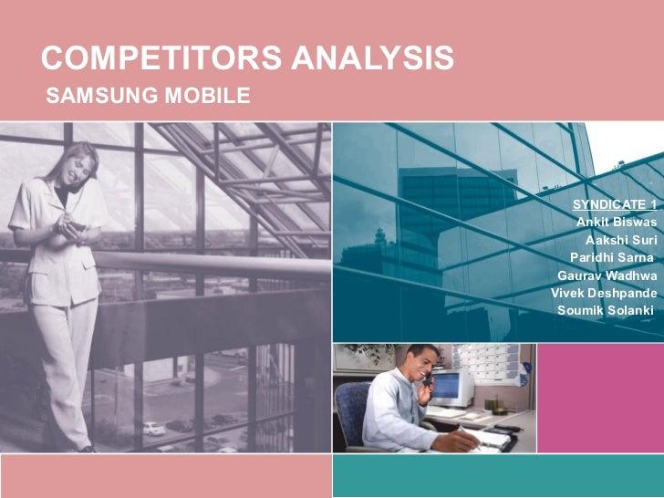 Samsung Mobile Competitor' s Analysis
