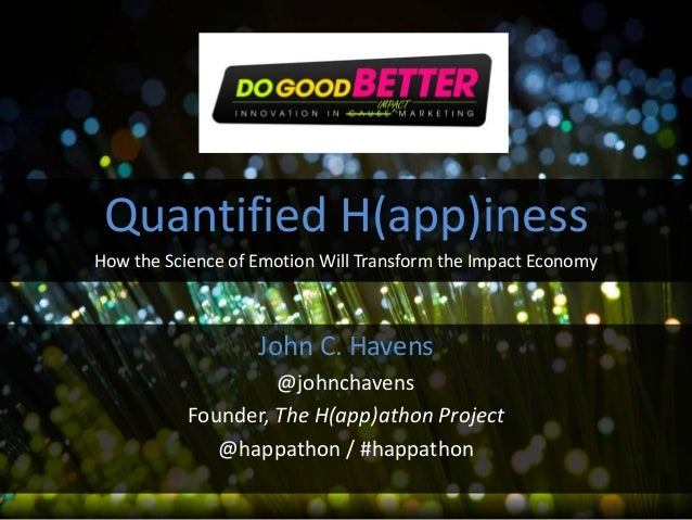The Science of Quantified Emotions