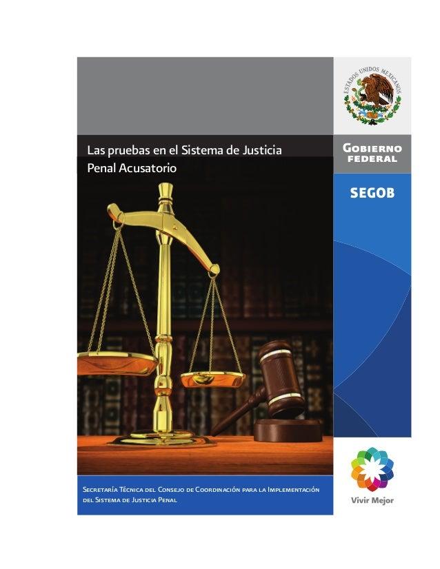 Secretaría Técnica del Consejo de Coordinación para la Implementacióndel Sistema de Justicia PenalLas pruebas en el Sistem...