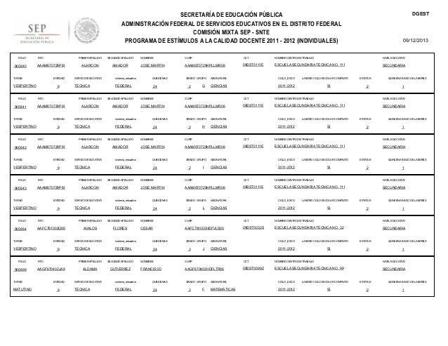 DGEST  SECRETARÍA DE EDUCACIÓN PÚBLICA ADMINISTRACIÓN FEDERAL DE SERVICIOS EDUCATIVOS EN EL DISTRITO FEDERAL COMISIÓN MIXT...
