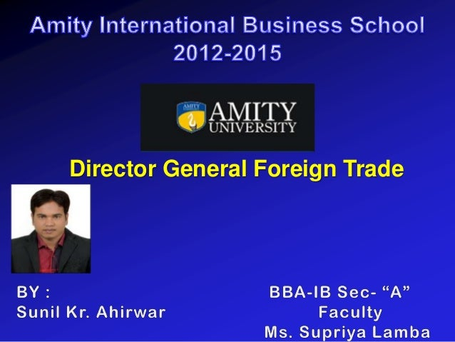 Director General Foreign Trade