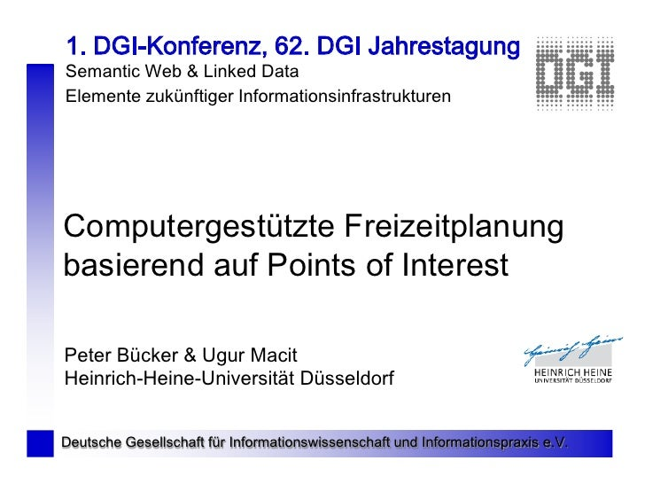 1. DGI-Konferenz, 62. DGI Jahrestagung Semantic Web & Linked Data Elemente zukünftiger Informationsinfrastrukturen     Com...