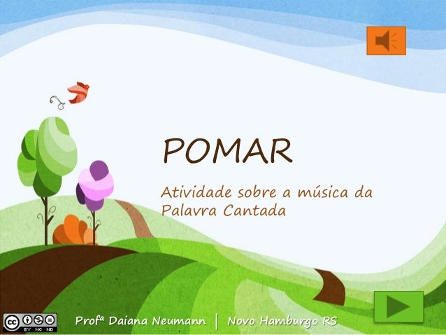 atividades horta pomar jardim educacao infantil:Pomar. Atividade sobre as árvores apresentadas na música da Palavra
