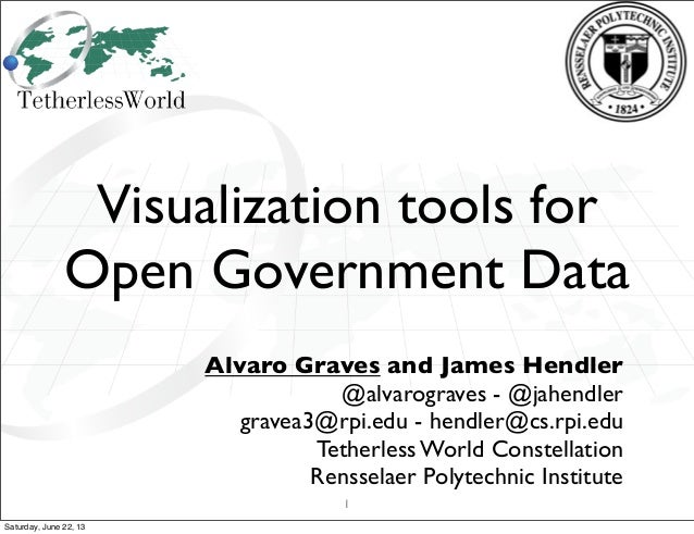 Visualization tools for Open Government Data