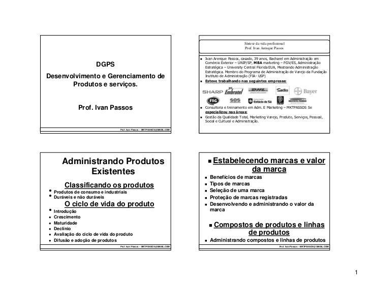 Desenvolvimento Gerenciamento Produdos e serviços  Aula 2008 2 mktpassos