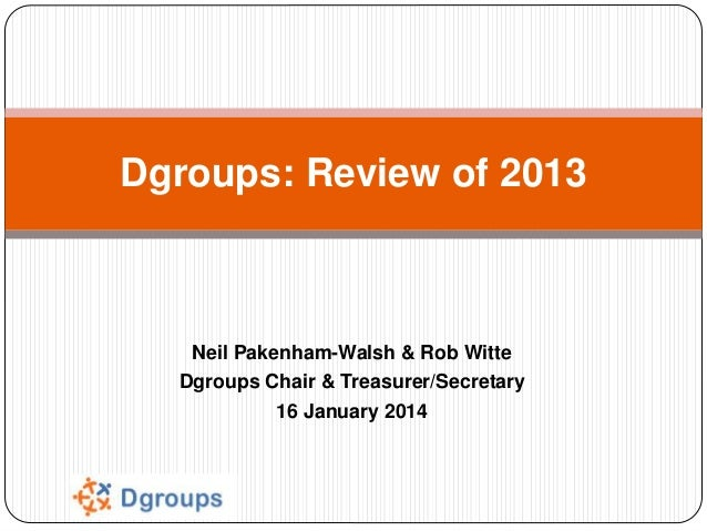 Dgroups 2013 review