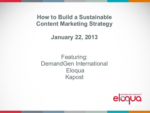How to Build A Sustainable Content Marketing Strategy
