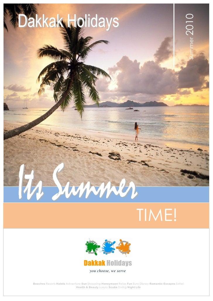 Dakkak Holidays  summer brochure new