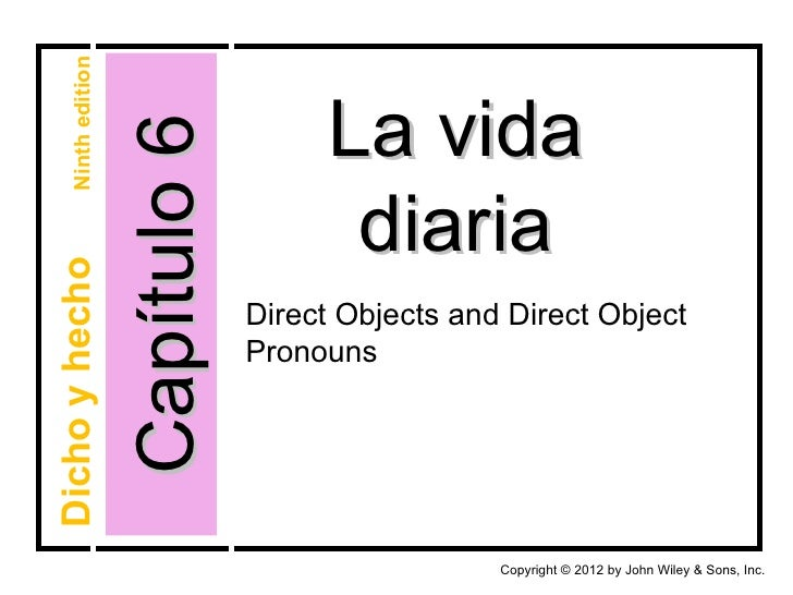 Chapter 6-Direct Objects