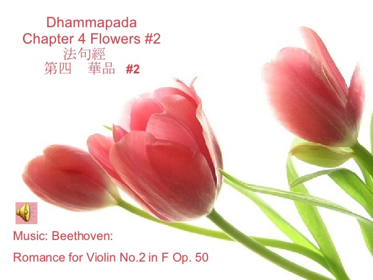 Dhammapada Chapter 4 Flowers #2 法句經  第四  華品  #2 Music: Beethoven:  Romance for Violin No.2 in F Op. 50