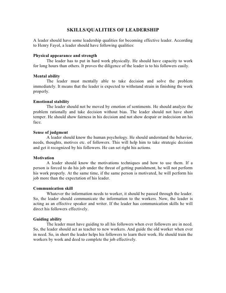 Dharati skills of leadership