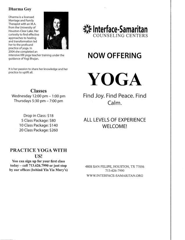 Dharma's brochure & card