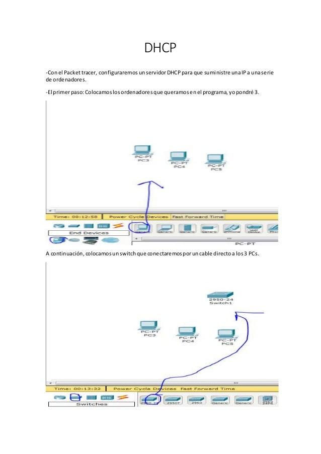 DHCP -Conel Packettracer, configuraremosunservidorDHCPpara que suministre unaIPa unaserie de ordenadores. -El primerpaso:C...