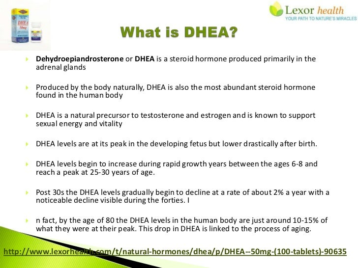 dhea and testosterone levels