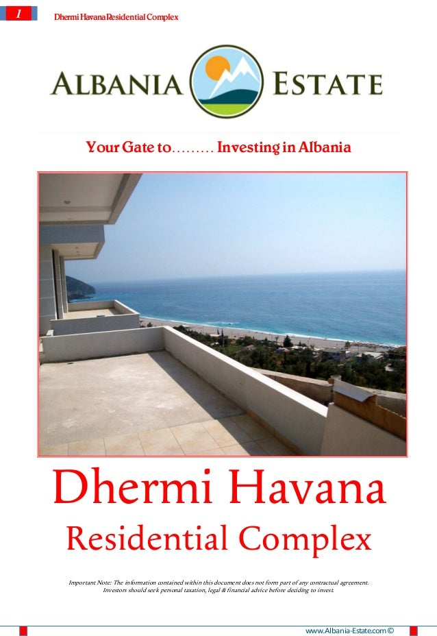 1   Dhermi Havana Residential Complex             Your Gate to……… Investing in Albania    Dhermi Havana      Residential C...