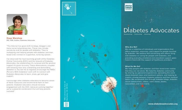 Diabetes Advocates brochure
