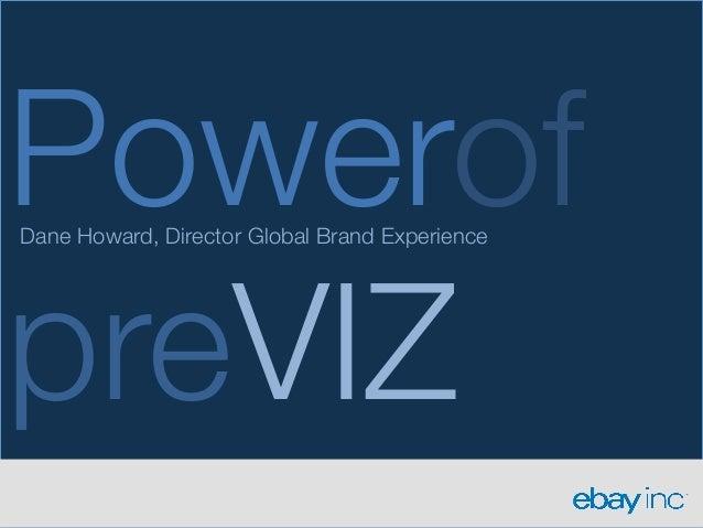 Powerof!Dane Howard, Director Global Brand ExperiencepreVIZ