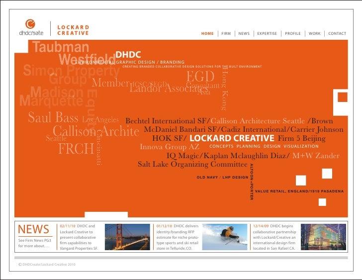 DHDC/Lockard Creative/Combined design portfolio