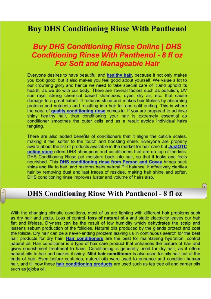 Buy DHS Conditioning Rinse | Branded Hair Care Products | Hair Shampoos