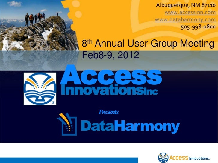 Albuquerque, NM 87110                     www.accessinn.com                  www.dataharmony.com                          ...